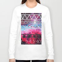 aztec Long Sleeve T-shirts featuring AZTEC by UDIN