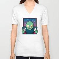 invader zim V-neck T-shirts featuring Invader by Eliseo Diaz