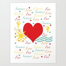 Fun, love, friends etc Art Print