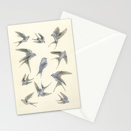 A Day in the Life of the Blue Bird of Happiness Stationery Cards