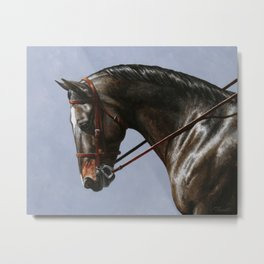 Brown Dressage Horse Metal Print