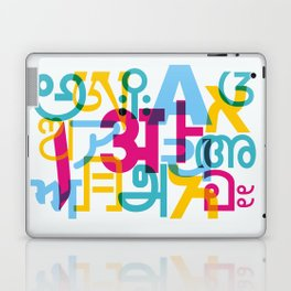 A in Scripts Around the World Laptop & iPad Skin