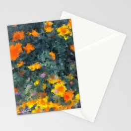 Ocean poppies Stationery Cards