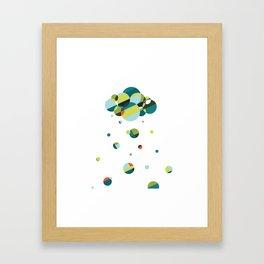 Luck has its storms Framed Art Print