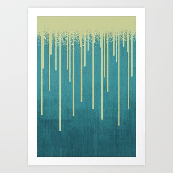 DROPS / pool Art Print