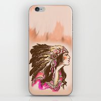 oklahoma iPhone & iPod Skins featuring Oklahoma  by Hollyce Jeffriess Designs