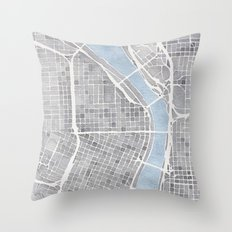Portland Oregon Throw Pillow