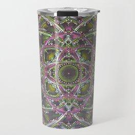 Green and Purple Mandala Travel Mug