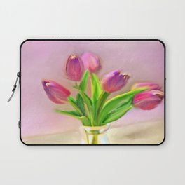 Painted Tulips Laptop Sleeve