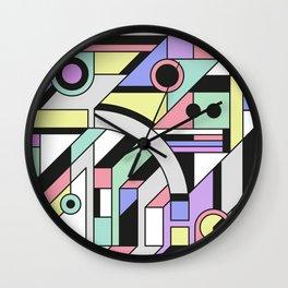 De Stijl Abstract Geometric Artwork Wall Clock