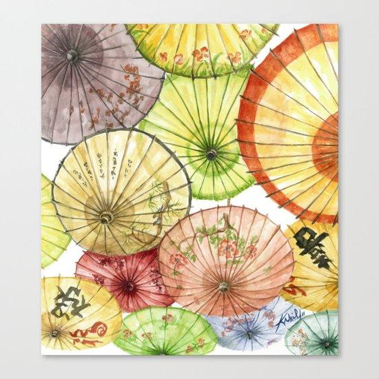 Paper Umbrellas Canvas Print
