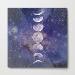 Moon Phases Metal Print