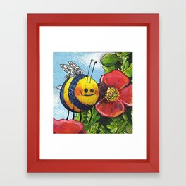 The Bee and the Poppy Framed Art Print