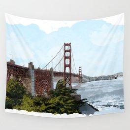 San Francisco Golden Gate Bridge Wall Tapestry