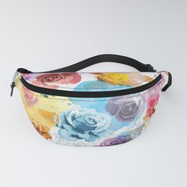 Watercolor Roses Fanny Pack