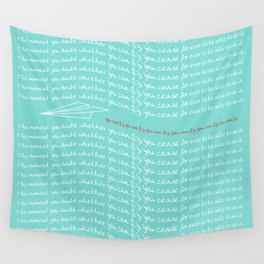 Paper Airplane - You Can Fly - Typography - Caribbean Wall Tapestry