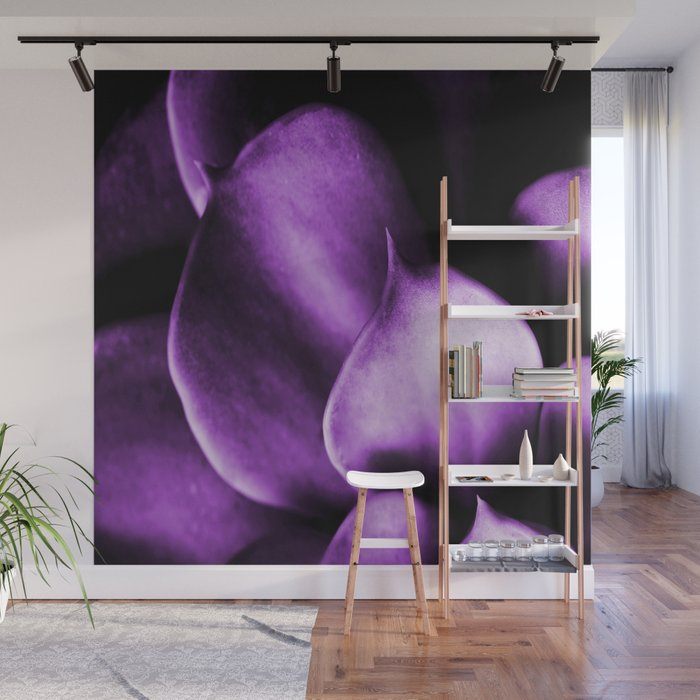 Succulent Leaves In Ultraviolet Color #decor #society6 #buyart Wall Mural