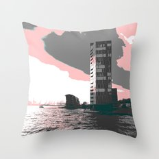 hamburg harbour Throw Pillow
