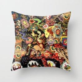 Chaos 2 Fire Throw Pillow