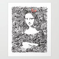mona lisa Art Prints featuring Mona Lisa by Gribouilliz