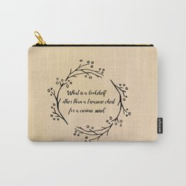 what is a bookshelf other than a treasure chest for a curious mind Carry-All Pouch