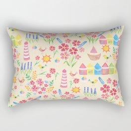 Watercolour seaside pattern Rectangular Pillow
