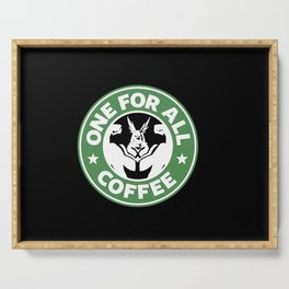 One For All Coffee Serving Tray
