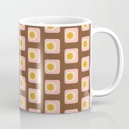 Flower Eggs Brown Coffee Mug