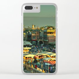 The marketplace of Marrakesh Clear iPhone Case