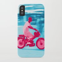 motorbike iPhone & iPod Cases featuring Motorbike Guy by Sergio Silva Santos
