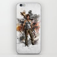 tomb raider iPhone & iPod Skins featuring Tomb Raider Reborn... by 187designz