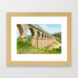 Ancient Roman Aqueduct Framed Art Print