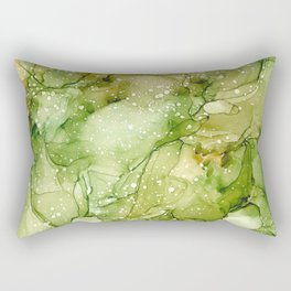 Green Abstract Art Rectangular Pillow