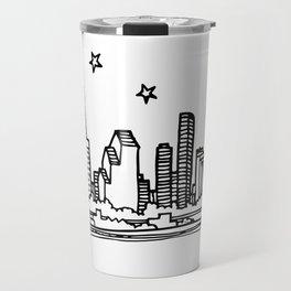 Houston, Texas City Skyline Illustration Drawing Travel Mug