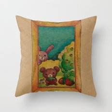 Forest wool Throw Pillow