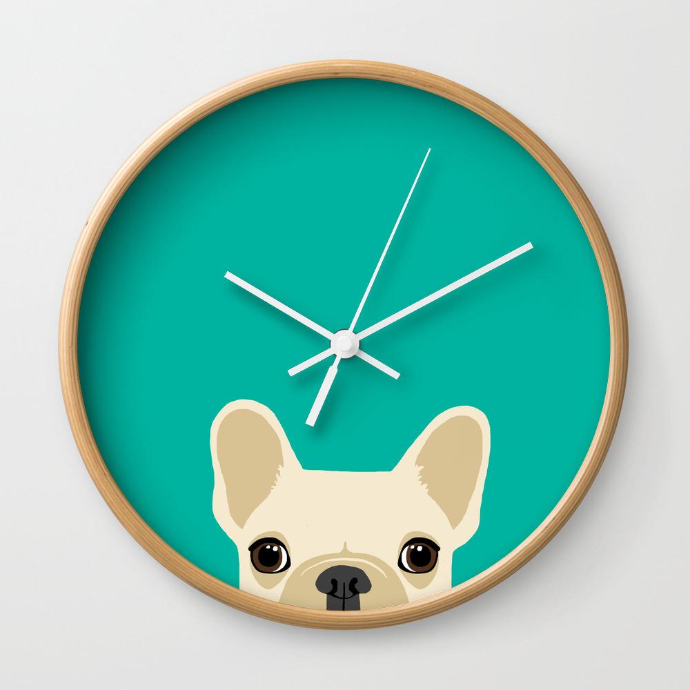 french bulldog wall clock blank wall clock frei