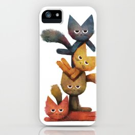 Lazy Cat Stack iPhone Case
