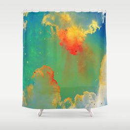 Goldfishes of the Universe Shower Curtain