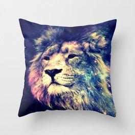 Galaxy Lion : Deep Pastels Throw Pillow