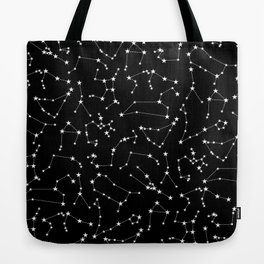 Zodiac Star Constellations Pattern Tote Bag