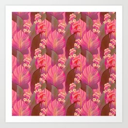Canna Tropicanna in Pink 1 Art Print