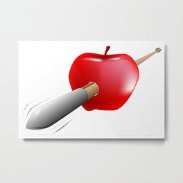 Arrow And Apple Metal Print