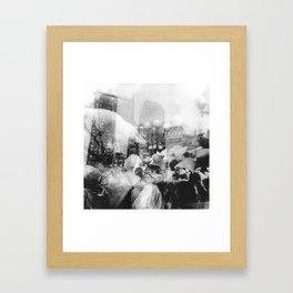 Union Square Pillow Fight Framed Art Print