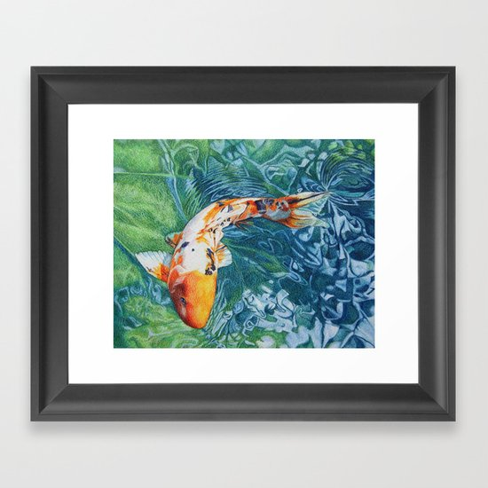 Koi carp framed art print by abby hope skinner society6 for Koi carp wall art