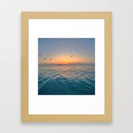 Sunset Ocean Framed Art Print