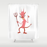 diablo Shower Curtains featuring Devil Diablo by Marco D Carrillo