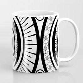 Black and White Oval Egg Coffee Mug