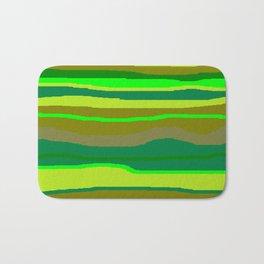 Green Multi Brush Strokes Badematte