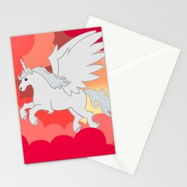 Alicorn at Sunset Stationery Cards