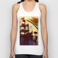 pirate ship Tank Tops featuring pirate ship by Ancello